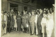 Bandeira da 9ª zona da Revolução Contitucionalista. Desembarque na estação de Bebedouro - Agosto de 1932