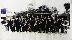 Banda Euterpe em frente a gruta da praça Monsenhor Marcondes