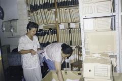 Funcionários do arquivo municipal
