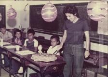 Festa de aniversário em sala de aula