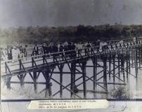 Primeira ponte construída sobre o Rio Paraíba inaugurada em 1836, ruída em 30 de janeiro de 1874