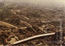 Foto aérea do viaduto